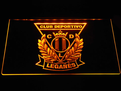 Image of CD Leganes LED Neon Sign - Yellow - SafeSpecial