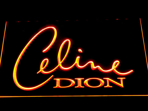 Celine Dion LED Neon Sign - Orange - SafeSpecial