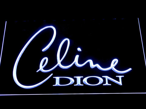 Celine Dion LED Neon Sign - White - SafeSpecial