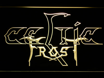 Celtic Frost LED Neon Sign - Yellow - SafeSpecial