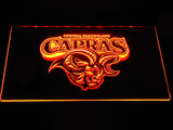 Central Queensland Capras LED Neon Sign - Orange - SafeSpecial