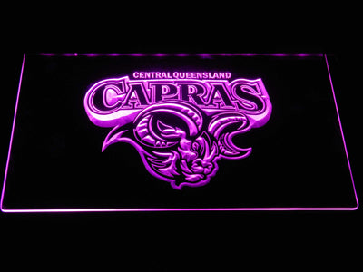Central Queensland Capras LED Neon Sign - Purple - SafeSpecial