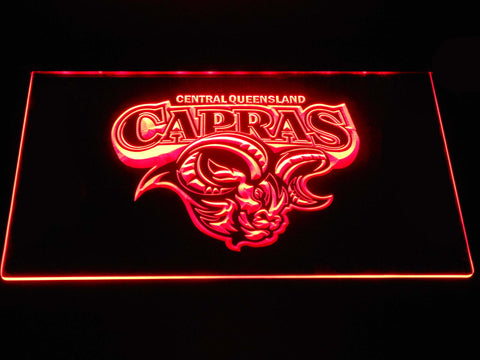 Image of Central Queensland Capras LED Neon Sign - Red - SafeSpecial