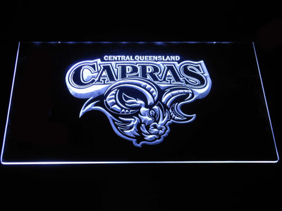 Central Queensland Capras LED Neon Sign - White - SafeSpecial