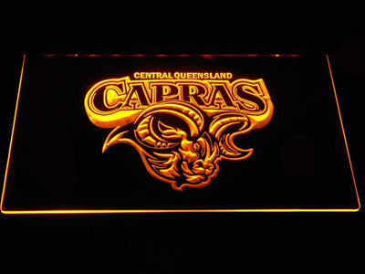 Central Queensland Capras LED Neon Sign - Yellow - SafeSpecial