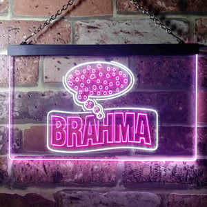 Cerveza Brahma Think Beer Neon-Like LED Sign - Dual Color