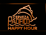 Cerveza Pacifico Happy Hour LED Neon Sign - Orange - SafeSpecial