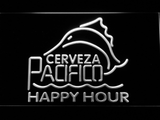 Cerveza Pacifico Happy Hour LED Neon Sign - White - SafeSpecial