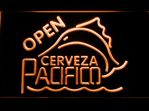 Image of Cerveza Pacifico Open LED Neon Sign - Orange - SafeSpecial