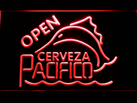 Image of Cerveza Pacifico Open LED Neon Sign - Red - SafeSpecial
