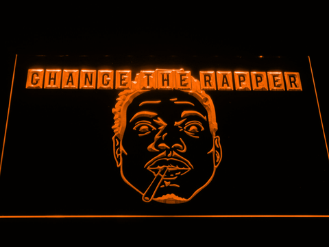 Chance the Rapper LED Neon Sign - Orange - SafeSpecial