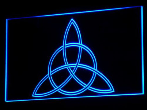 Charmed Triquetra LED Neon Sign - Blue - SafeSpecial