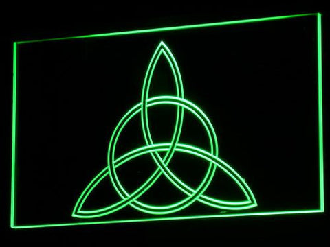Charmed Triquetra LED Neon Sign - Green - SafeSpecial