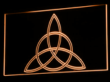 Charmed Triquetra LED Neon Sign - Orange - SafeSpecial