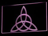 Charmed Triquetra LED Neon Sign - Purple - SafeSpecial