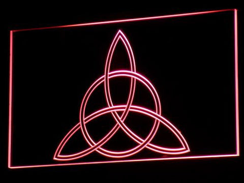 Charmed Triquetra LED Neon Sign - Red - SafeSpecial