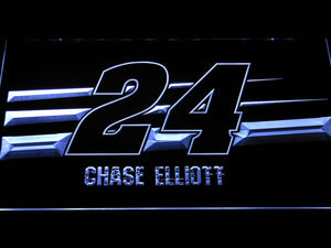 Chase Elliott 24 LED Neon Sign - White - SafeSpecial
