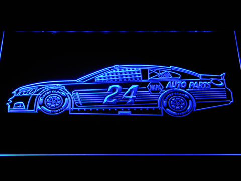 Image of Chase Elliott Race Car LED Neon Sign - Blue - SafeSpecial