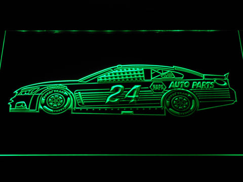 Image of Chase Elliott Race Car LED Neon Sign - Green - SafeSpecial