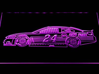 Chase Elliott Race Car LED Neon Sign - Purple - SafeSpecial