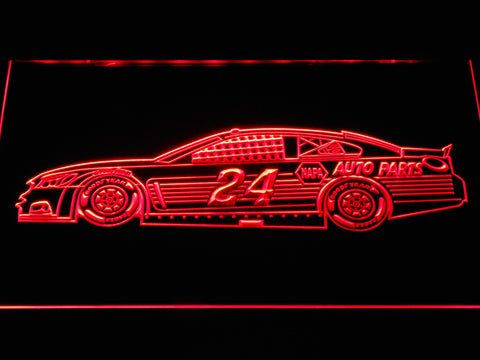 Image of Chase Elliott Race Car LED Neon Sign - Red - SafeSpecial