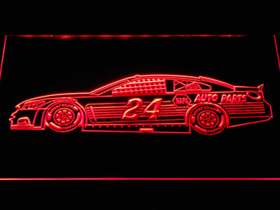 Chase Elliott Race Car LED Neon Sign - Red - SafeSpecial