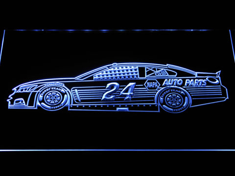 Image of Chase Elliott Race Car LED Neon Sign - White - SafeSpecial