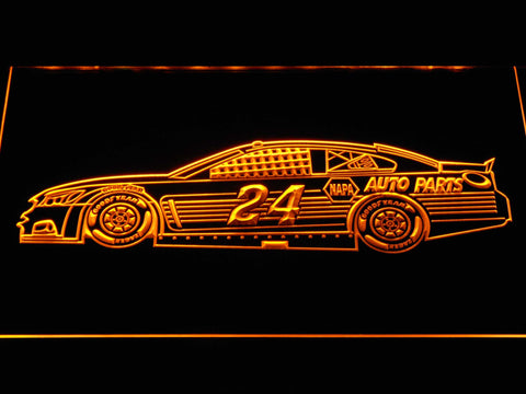Image of Chase Elliott Race Car LED Neon Sign - Yellow - SafeSpecial