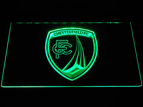 Chesterfield Football Club LED Neon Sign - Green - SafeSpecial