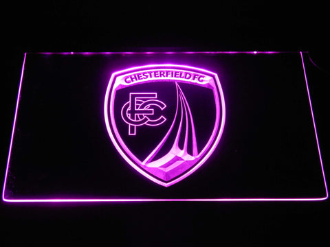 Chesterfield Football Club LED Neon Sign - Purple - SafeSpecial