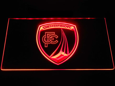Chesterfield Football Club LED Neon Sign - Red - SafeSpecial