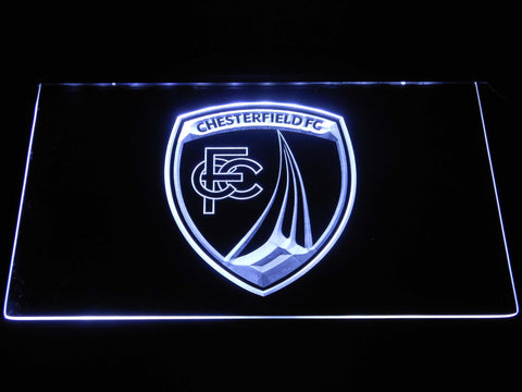 Chesterfield Football Club LED Neon Sign - White - SafeSpecial