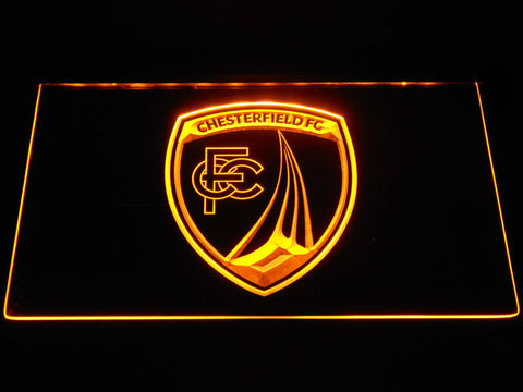 Chesterfield Football Club LED Neon Sign - Yellow - SafeSpecial