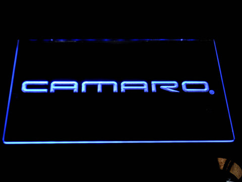 Image of Chevrolet Camaro LED Neon Sign - Blue - SafeSpecial