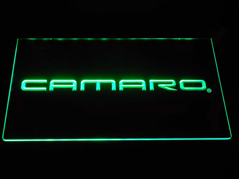 Image of Chevrolet Camaro LED Neon Sign - Green - SafeSpecial