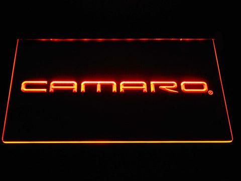 Image of Chevrolet Camaro LED Neon Sign - Orange - SafeSpecial
