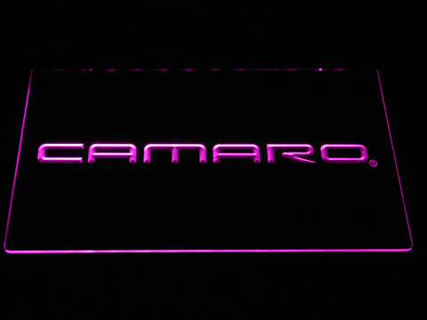 Image of Chevrolet Camaro LED Neon Sign - Purple - SafeSpecial