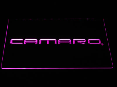 Chevrolet Camaro LED Neon Sign - Purple - SafeSpecial