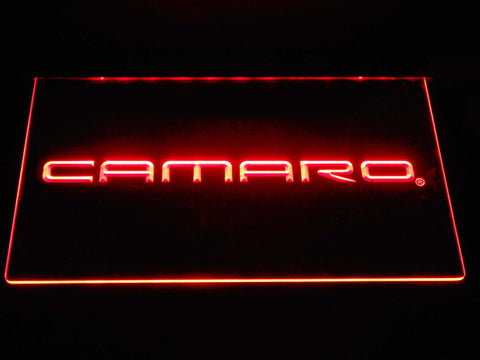 Image of Chevrolet Camaro LED Neon Sign - Red - SafeSpecial
