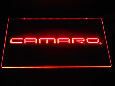 Chevrolet Camaro LED Neon Sign - Red - SafeSpecial