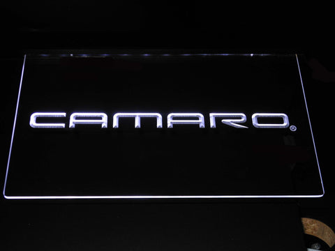Image of Chevrolet Camaro LED Neon Sign - White - SafeSpecial