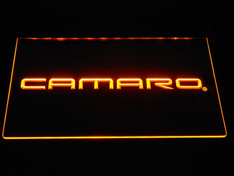 Image of Chevrolet Camaro LED Neon Sign - Yellow - SafeSpecial