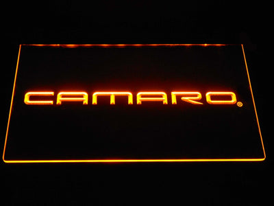 Chevrolet Camaro LED Neon Sign - Yellow - SafeSpecial