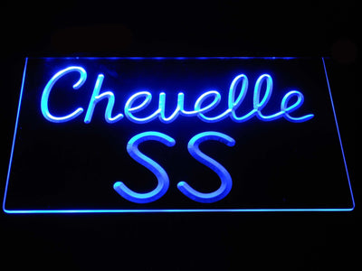 Chevrolet Chevelle SS LED Neon Sign - Blue - SafeSpecial