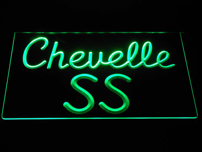 Chevrolet Chevelle SS LED Neon Sign - Green - SafeSpecial