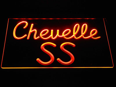 Chevrolet Chevelle SS LED Neon Sign - Orange - SafeSpecial