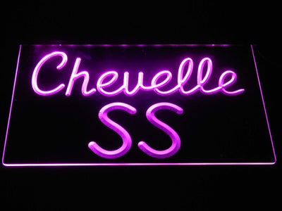 Chevrolet Chevelle SS LED Neon Sign - Purple - SafeSpecial