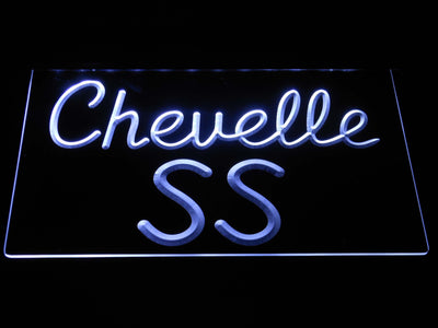 Chevrolet Chevelle SS LED Neon Sign - White - SafeSpecial