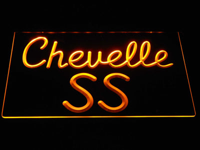 Chevrolet Chevelle SS LED Neon Sign - Yellow - SafeSpecial