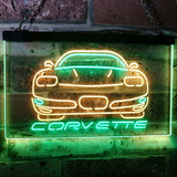Chevrolet Corvette Neon-Like LED Sign - Dual Color - Green and Yellow - SafeSpecial